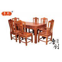 红木家具非洲花梨木实木圆桌圆台餐桌椅饭桌仿古组合客厅家具餐桌