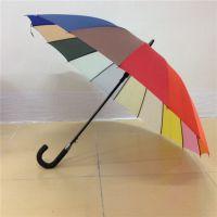 深圳虹彩雨伞厂批发23寸16K彩虹伞广告伞定做