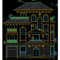 带双车库、室内泳池豪华城堡式二层别墅户型图14.1x11.4米