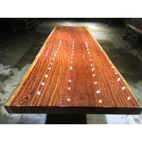 家有名木供应非洲巴西花梨木实木简约大板餐桌画案书桌办公桌茶桌原木家具厂家直销