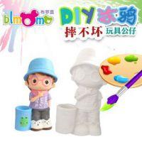厂家直销摔不坏搪胶笔筒款娃娃涂鸦白模公仔 非石膏陶瓷白坯玩具