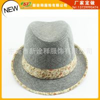 外贸定做韩版帽子 来自星星的你千颂伊同款英伦礼帽羊毛定型帽