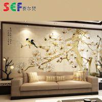 专业生产 望思客厅沙发背景墙 精美沙发卧室客厅背景墙