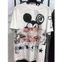现货MC 2015春中长款短袖圆领套头米奇印花T恤女MA151TST20