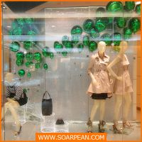 JORYAWEEKAND、 橱窗绿气球道具、 电镀气球橱窗道具厂加工定制