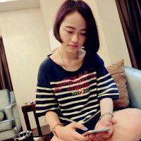 印花宽松女士韩国圆领短袖纯棉t恤女款夏装打底衫日系女装衣服潮