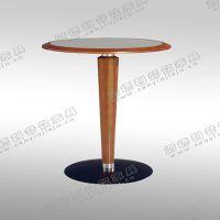 促销 时尚餐厅西餐桌 迷你型圆桌 金属包边咖啡桌 可定做