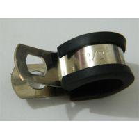 西安金属软管配件厂家提供12mmR型金属管夹,包胶管夹