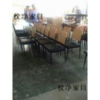 华硕电脑(上海)食堂桌椅 员工快餐板式桌椅 上海忱净家具厂