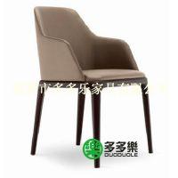 实木椅 带扶手 皮质坐垫 多多乐家具全国定做