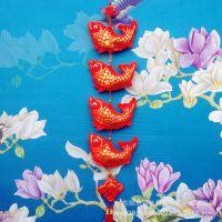 批发中国结绒布鱼串挂件 装饰春节节日场景布置 手工年年有鱼