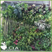 厂家定制仿真植物墙 人造美观高仿真植物墙 室内壁挂绿植墙装饰