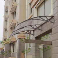 瑞思凯门头雨棚户外遮阳篷 塑料材质 组装式透明耐力板简易雨阳篷 外贸出口品质