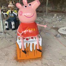 海南猪雕塑定做树脂彩绘猪雕塑采购批发玻璃钢彩绘猪雕塑生产厂家