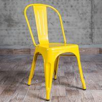 海德利厂家定制 主题餐厅金属铁皮餐椅 复古耐用餐椅 批发