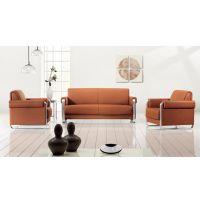 首望家具新款现代简约办公沙发茶几组合真皮商务办公室沙发会客