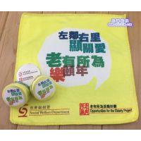 供应厂家订制热转印广告超细纤维压缩毛巾