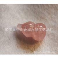 天然30MM粉水晶葫芦  天然水晶 东海水晶 天然石 小额批发