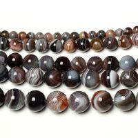 万汇 黑白波斯玛瑙散珠子天然水晶圆珠串珠DIY小饰品配件材料散粒