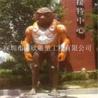 外星人军团雕塑 玻璃钢雕塑 卡通形象摆件 房地产影视道具人物雕塑摆件