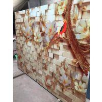 沙河佳汇厂家定做 欧式风格背景墙玻璃和油画艺术玻璃