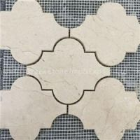 Cream Marfil Marble Mosaics For Flooring Tiles