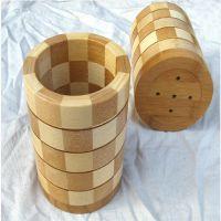 65707厨房厨具家居用品批发代理加盟 竹制圆形筒装筷子笼