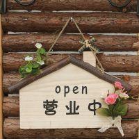 小房子欢迎光临挂牌 美式田园创意welcome 门牌营业牌 定制定做