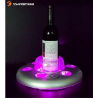 【厂家直销】LED酒水托盘 发光餐具 餐厅用酒类饮料发光盘