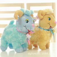 厂家承接毛绒仿真羊定做 订制毛绒动物玩具羊 可来图动物玩具设计