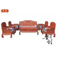 缅甸花梨木古典花梨木沙发成套家具价格十大品牌客厅