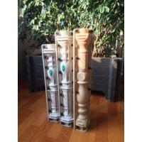 风格各异纹路清晰郑州天艺批发70cm的雕花螺旋廊柱合金塑料模具