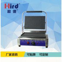 和德单压板电热扒炉DG-811ER单压条纹电热扒炉铁板烧坑扒炉牛排猪排炉帕尼尼机