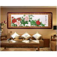 国画牡丹 中国字画 牌匾字画雕刻,木刻字画,木字画,工艺字画