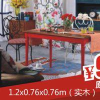 美家国际 欧式黄玉大理石餐桌小户型餐厅饭桌长方形实木餐桌 批发