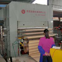 青岛国森机械制造主压力1200T高档凉席加工机械
