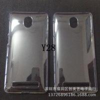 步步高Y28手机素材壳 y28透明壳批发 水贴 贴钻 皮套素材 保护壳
