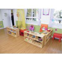成都大林宝宝厂家定做幼儿园实木鞋柜,书包柜,玩具柜