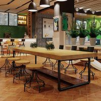 顺吉装饰 乡村风情原木肌理 8款美式木质餐桌