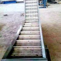 乾德机械定制工业输送线 工业输送铁块用链板爬坡输送线 尺寸可自由选择