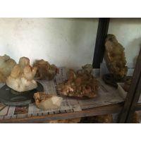 天然茶黄晶单晶体 长40~50毫米左右天然黄水晶单晶体原石佛教用品