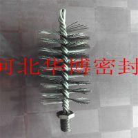 锅炉烟囱刷/带螺纹钢丝刷/钢管抛光刷/圆管除锈刷/工业管道清洗刷