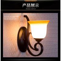 万柏灯饰美式灯具A1001-1W 欧式现代家装酒店照明装饰壁灯lighting wall lamp