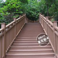 安装简易厂家直销成套出售塑木户外栏杆工程塑木栅栏