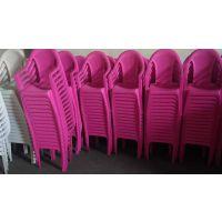供应内蒙古锡林浩特塑料桌椅 双龙聚丙烯材质红色椅子