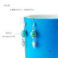 韩国小饰品批发 水晶饰品 厂家直销 天然绿松石菩提女士百搭耳坠