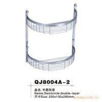 【厂家直销】8004A-2 不锈钢双层半圆浴室置物架 卫浴用五金件