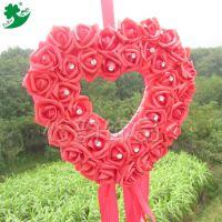 厂家直销现货红婚车装饰套装婚庆用品花车装饰套装仿真花结婚用品