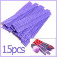 15个紫色化妆刷保护套 套刷化妆刷专用刷毛毛头套网套大中小通用