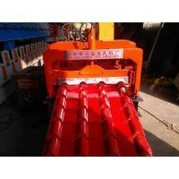 彩钢仿古琉璃瓦机 兴益780型竹节压瓦机发往云南大理 联系电话18233653803微信同号